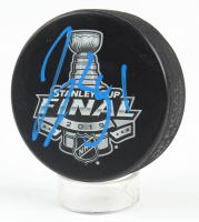 Jake Allen Signed 2019 Stanley Cup Final Logo Hockey Puck (Beckett COA) at PristineAuction.com