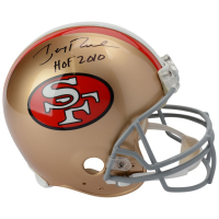 "Jerry Rice Signed 49ers Full-Size Authentic On-Field Helmet Inscribed ""HOF 2010"" (Fanatics Hologram) at PristineAuction.com"