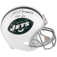 "Joe Namath Signed Jets Full-Size Authentic On-Field Helmet Inscribed ""HOF 85"" (Fanatics Hologram) at PristineAuction.com"