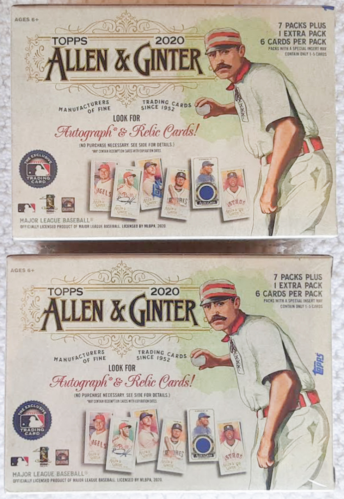 Lot of (2) 2020 Topps Allen & Ginter Baseball Blaster Box with (8) Packs at PristineAuction.com