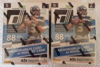 Lot of (2) 2020 Panini Donruss Football Blaster Box with (11) Packs at PristineAuction.com