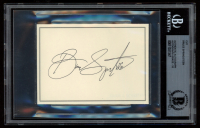 Bruce Springsteen Signed 3x4 Cut (BGS Encapsulated) at PristineAuction.com