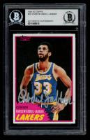 Kareem Abdul-Jabbar Signed 1981-82 Topps #20 (BGS Encapsulated) at PristineAuction.com