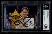 Roger Federer Signed 2x3.25 Photo (BGS Encapsulated) at PristineAuction.com