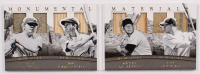 2017 Panini National Treasures Monumental Materials Booklets #1 Babe Ruth / Joe DiMaggio / Lou Gehrig / Mickey Mantle at PristineAuction.com