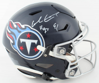 """Earl Campbell Signed Titans Full-Size Authentic On-Field SpeedFlex Helmet Inscribed """"HOF 91"""" (JSA COA) (See Description) at PristineAuction.com"""