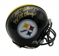 "Rocky Bleier Signed Steelers Mini Helmet Inscribed ""4x SB Champs"" (Beckett COA) at PristineAuction.com"