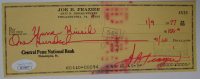 Joe Frazier Signed 1977 Personal Bank Check (JSA COA) at PristineAuction.com