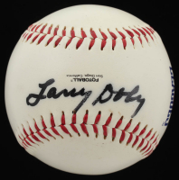 Larry Doby Signed Indians Logo Baseball (JSA COA) at PristineAuction.com