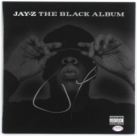 "Jay-Z Signed ""The Black Album"" Vinyl Album Cover (PSA Hologram) at PristineAuction.com"