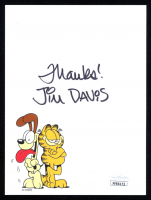"Jim Davis Signed ""Garfield"" 4.5x6 Photo Inscribed ""Thanks!"" (JSA COA) at PristineAuction.com"