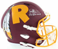 "Joe Theismann Signed Redskins Full-Size AMP Alternate Speed Helmet Inscribed ""SB XVII Champs"" (JSA COA) at PristineAuction.com"