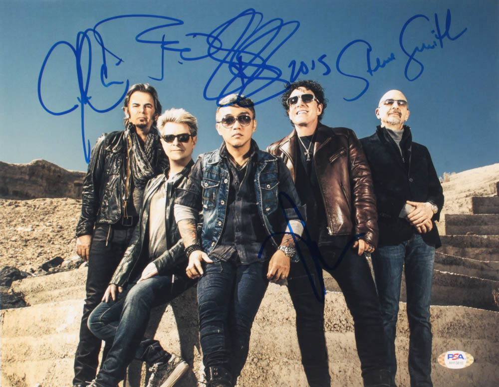 Journey 11x14 Photo Band-Signed by (5) with Arnel Pineda, Neal Schon, Jonathan Cain, Steve Smith & Ross Valory (PSA Hologram) at PristineAuction.com