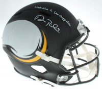 "Adam Thielen Signed Vikings Full-Size AMP Alternate Speed Helmet Inscribed """"Undrafted to Unstoppable"" (TSE COA) at PristineAuction.com"