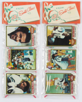 Lot of (2) 1979 Topps Unopened Football Christmas Rack Packs of (12) Cards with Cliff Harris #360 All-Pro, Charlie Joiner #419, & Hank Bauer #499 RC at PristineAuction.com