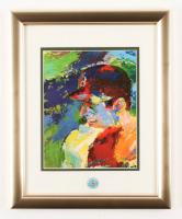 "Leroy Neiman ""Carl Yastrzemski"" 13x16 Custom Framed Print Display with 1967 Triple Crown Years Vintage Lapel Pin at PristineAuction.com"