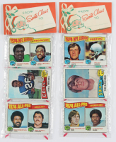 Lot of (2) 1975 Topps Unopened Football Christmas Rack Packs of (12) Cards with Lydell Mitchell #170, Tom Blanchard #296, & #6 Punting Leaders / Tom Blanchard / Ray Guy at PristineAuction.com
