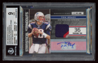Tom Brady 2011 Rookies and Stars Statistical Standouts Materials Autographs Prime #19 (BGS 9) at PristineAuction.com