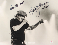 """Brian Johnson Signed 11x14 Photo Inscribed """"All The Best"""" & """"AC/DC"""" (PSA Hologram) at PristineAuction.com"""