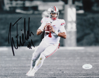 Justin Fields Signed Ohio State Buckeyes 8x10 Photo (JSA COA) at PristineAuction.com