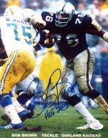 "Bob Brown Signed Raiders 8x10 Photo Inscribed ""HOF 2004"" (JSA COA) at PristineAuction.com"