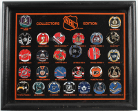 Vintage NHL Jersey Pin Set 9x11 Custom Framed Display at PristineAuction.com