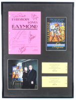 """Everybody Loves Raymond"" 18.5x24.5 Custom Framed Script Doris Roberts Cover Display Signed by (5) with Doris Roberts, Patricia Heaton, Ray Romano, Peter Boyle, & Brad Garrett with Tickets & Photos (JSA ALOA) at PristineAuction.com"