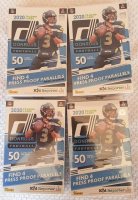 Lot of (4) 2020 Panini Donruss Football Hanger Box with (50) Cards at PristineAuction.com