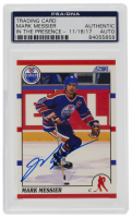 Mark Messier Signed 1990-91 Score #100 (PSA Encapsulated) at PristineAuction.com