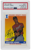 Chipper Jones Signed 1991 Score #671 RC (PSA Encapsulated) at PristineAuction.com