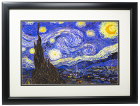 "Vincent Van Gogh ""Starry Night"" 12x18 Custom Frame Print Display at PristineAuction.com"