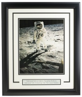 "Buzz Aldrin 16"" x 19"" Custom Framed Photo & Cut Display at PristineAuction.com"