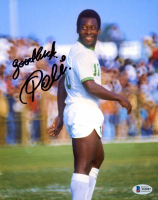 "Pele Signed 8x10 Photo Inscribed ""Good Luck"" (Beckett COA) at PristineAuction.com"
