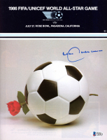 Franz Beckenbauer Signed 1986 FIFA/Unicef World All-Star Game Program at PristineAuction.com