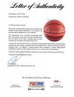 Michael Jordan Signed NBA Basketball With Display Case (PSA LOA) at PristineAuction.com