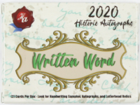 2020 Historic Autographs Written Word Baseball Box at PristineAuction.com