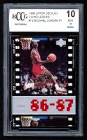 Michael Jordan 1998 Upper Deck / Living Legend #15 TF 1987-88 (BCCG 10) at PristineAuction.com