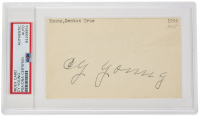 Cy Young Signed Index Card (PSA Encapsulated) at PristineAuction.com