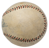 Babe Ruth Signed Baseball with Display Case (PSA LOA - Graded 8) at PristineAuction.com