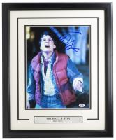 "Michael J. Fox Signed ""Back To The Future"" 16x20 Custom Framed Photo Display (PSA COA) at PristineAuction.com"