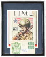 "Herbert Carter Signed 11x14 Custom Framed 1945 Time Magazine Cover Display Inscribed ""99th 75"" (JSA ALOA) at PristineAuction.com"