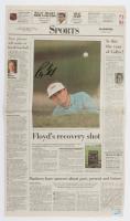 "Raymond Floyd Signed 1995 ""The Palm Beach Post"" Newspaper (Palm Beach COA) at PristineAuction.com"