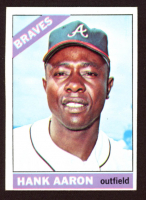 Hank Aaron 1966 Topps #500 at PristineAuction.com
