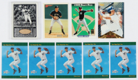 Lot of (9) Derek Jeter Baseball Cards with (5) 1993 Select #360 RC, 1993 Topps #98 RC, 1996 Pinnacle #171, 1993 Bowman #511 RC & 2000 Upper Deck Yankees Master Collection All-Time Yankees Game Bats #ATY7 at PristineAuction.com
