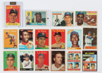 Lot of (16) Assorted Baseball Cards with Ernie Banks 1966 Topps #110, Hank Aaron 1960 Topps #300, Roy Campanella 1956 Topps #101 at PristineAuction.com