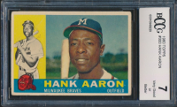 Hank Aaron 1960 Topps #300 (BCCG 7) at PristineAuction.com