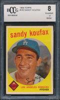Sandy Koufax 1959 Topps #163 (BCCG 8) at PristineAuction.com