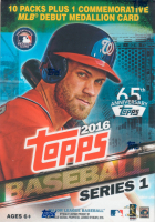 2016 Topps Baseball Series 1 Blaster Box with (10) Packs at PristineAuction.com