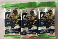 Lot of (3) 2020 Donruss Football Value Packs with (30) Cards Each at PristineAuction.com