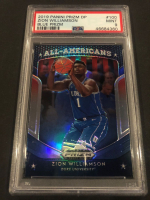 Zion Williamson 2019-20 Panini Prizm Draft Picks Blue Prizm #100 All-American (PSA 9) at PristineAuction.com